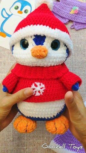 CROCHET PENGUIN PATTERN, Amigurumi penguin pattern, Stuffed penguin toy, Plush toys pattern