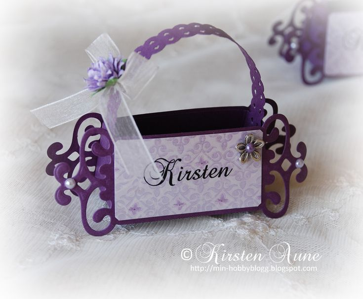 Kirstens Blogg: Tutorial - Place Card for Confirmation