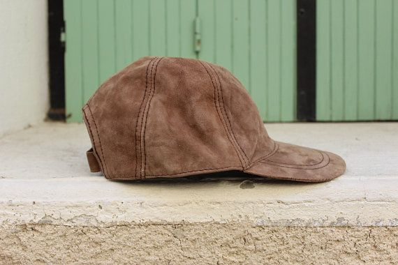 Leather hat leather cap leather sloutch hat unisex by EATHINI