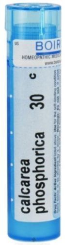 Calcarea Phosphorica 30c is available by Boiron Homeopathics.  Indication: Growing Pains Common name: Calcium Phosphate Improved by: Warm, dry weather Aggravated by: Humidity  Contains approximately 80 pellets  Adults and children: Dissolve 5 pellets in the mouth 3 times a day until relieved or as directed by a doctor.