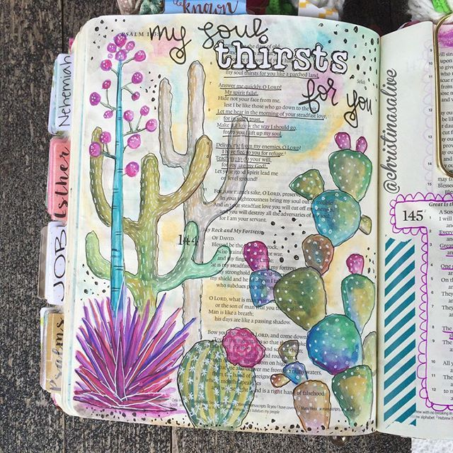 Bible Journaling by Christina Lowery @christinasalive | Psalm 143