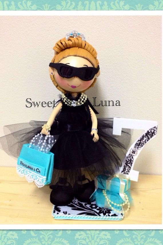 Breakfast at Tiffany's  Birthday Centerpiece / by SweetBellaLuna, $58.00