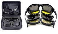 Daisy C5 ejército gafas tormenta del desierto 4 lentes, UV exterior deportes caza militar Sunglasses Men & women, juego de guerra gafas