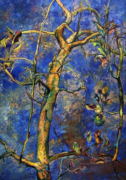 Papageorgiu Andrea  'Apple tree'  2012  Oil on canvas