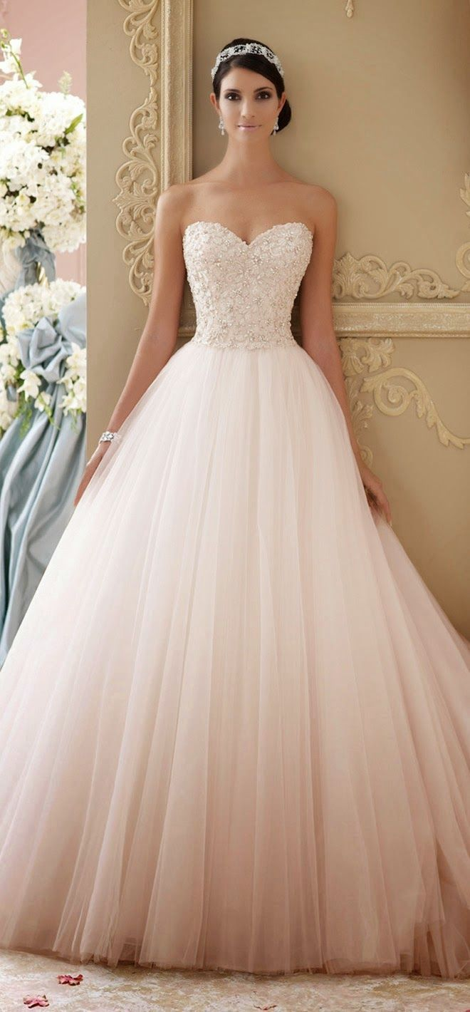 Best Wedding Dresses of 2014 (I like the subtle fading on the bottom)