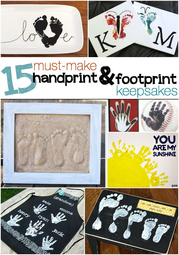 Little hands and little feet are some of the sweetest thing on earth! But they grow SO FAST! Which means we have to capture them while we can by creating keepsake memories out of their handprints and footprints!  These aren't just any handprint and footprint crafts, although we love those too, these are ones that make the best keepsakes — and great gifts for grandparent too! Must-Make Handprint Keepsakes On a canvas: You are my Sunshine — via The Realistic Mama On a good ole mug — via Better…