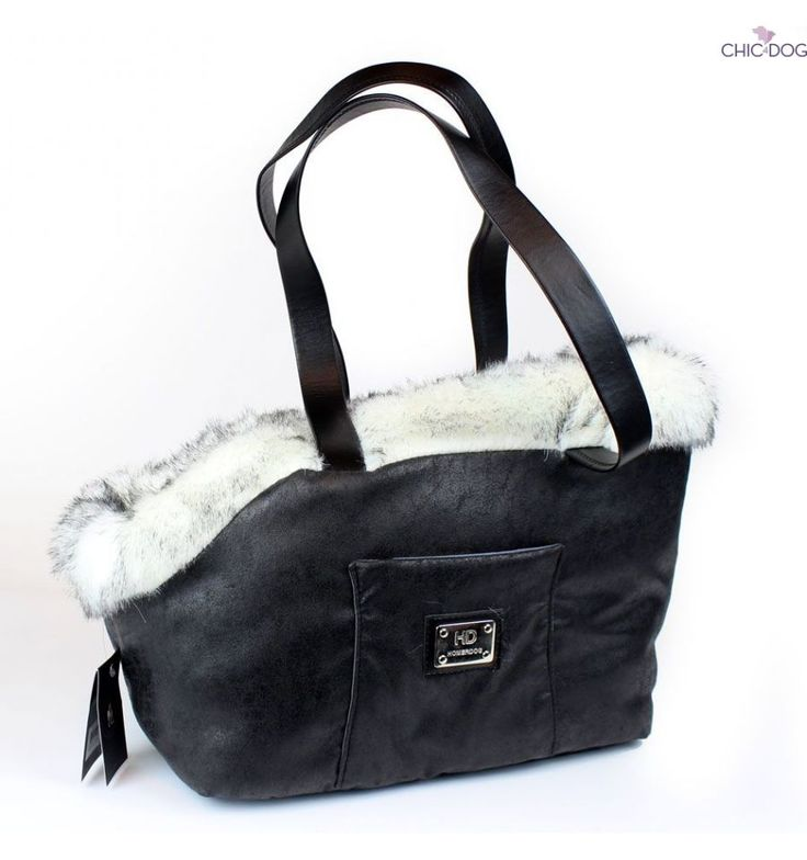 #dogbag by Homerdog - super warm, comfortable and cozy, yet stylish and chic. Black nouance   Trasportino borsa invernale per cani #Chic4Dog
