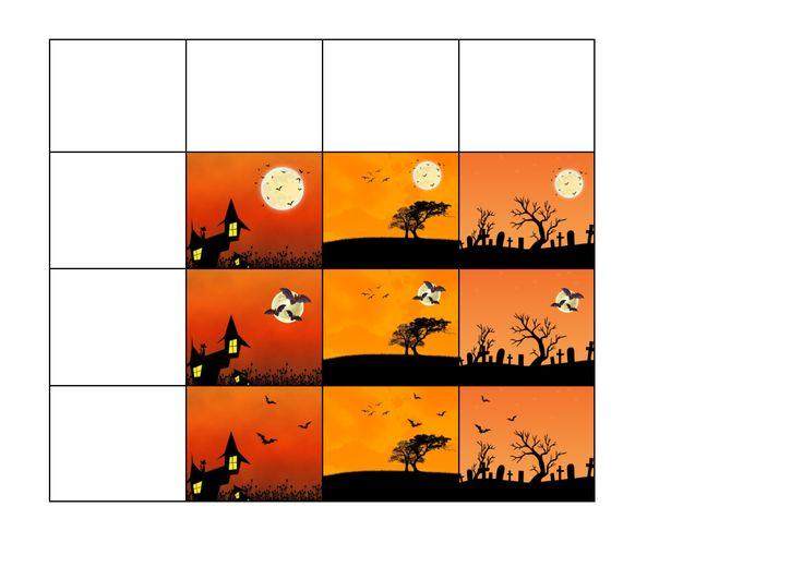 Tiles for the Halloween bat matrix game. Find the belonging board on Autismespektrum on Pinterest. By Autismespektrum