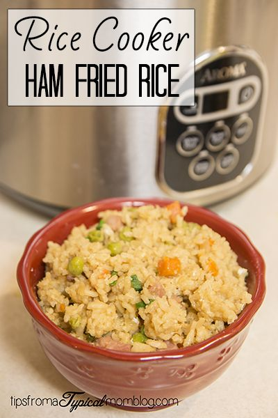 Easy Ham Fried Rice in the Rice Cooker! So easy and quick. Your family will love this for dinner.