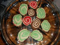 Refrigerator Cookies (Mint, Cinnamon, and Chocolate)