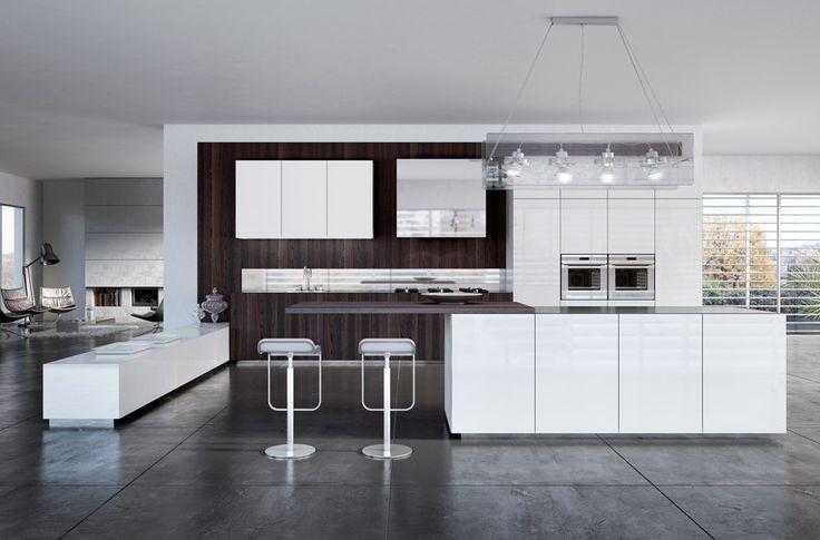 SCIC's Monolite kitchen model with a modern, minimalist and compact design. #sciccucine