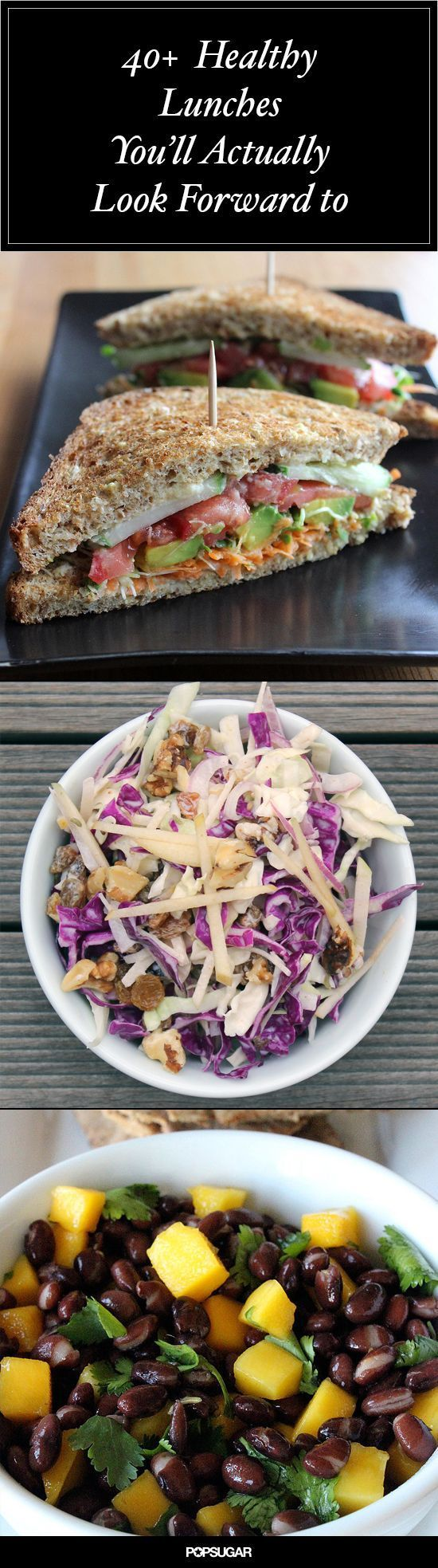 42 Healthy Lunches to Pack Up For Work #healthy