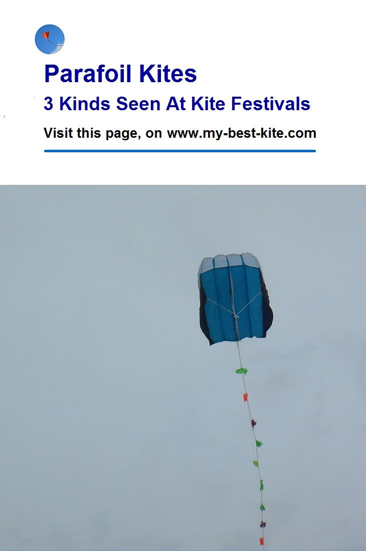 A fairly large 4-cell Parafoil kite is paired with a traditional-style bowed tail. Those tails look good, but can be a pain to untangle or pack/unpack! Click 'Visit' to the page - and try other pages of the site for more kite info, photos and video. T.P. #kite #parafoil #bows