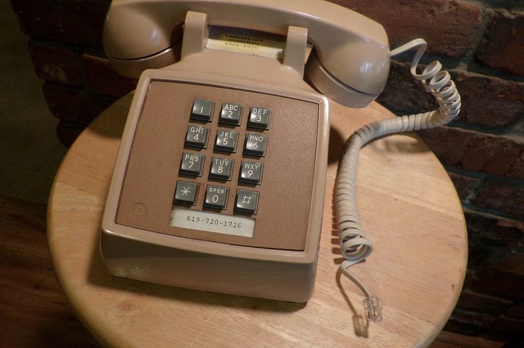 Vintage Beige Desk phone, Bell Systems phone, Desk Phone, 1980's prop by Morethebuckles on Etsy