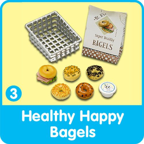 Re-ment BREAD & BUTTER Barbie Sz Miniature Food BAKERY BAGEL BASKET