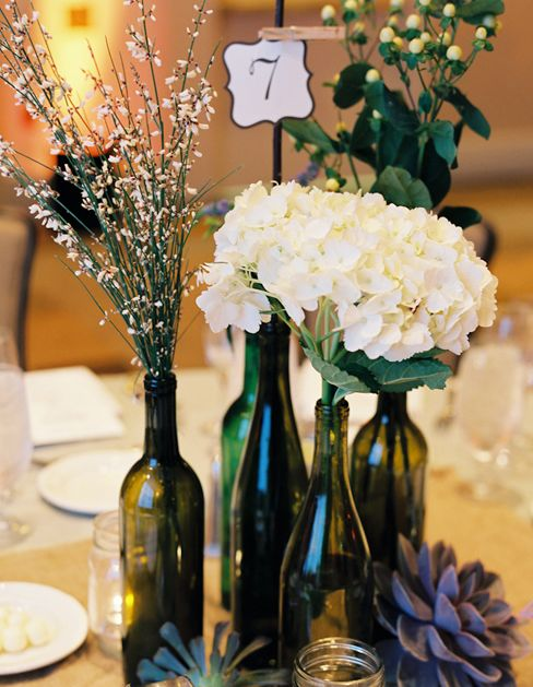 71 best wine night decorations images on pinterest for Clear wine bottle centerpieces