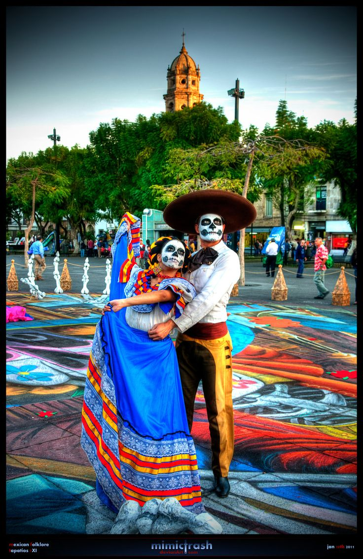 Mexican Folklore - Gorgeous day of the dead outfits