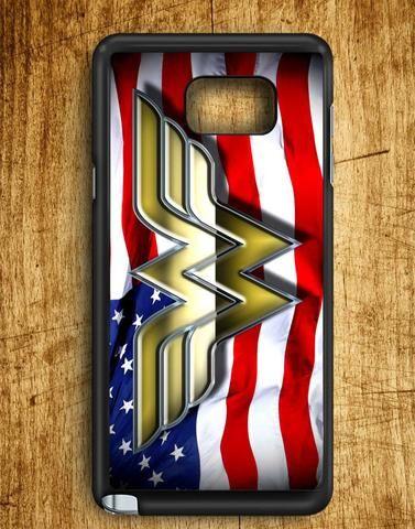 Wonder Woman American Flag Samsung Galaxy Note 5 Case