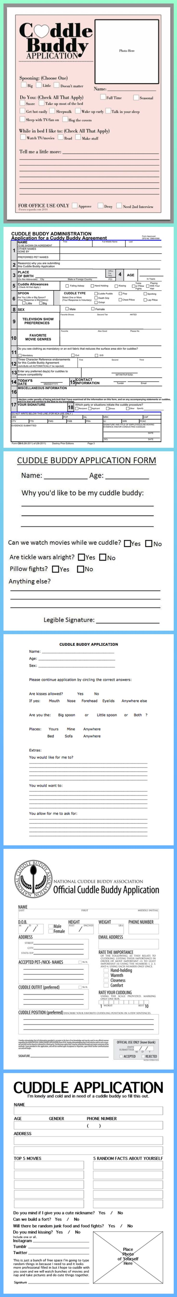 Cuddle Buddy Application Forms
