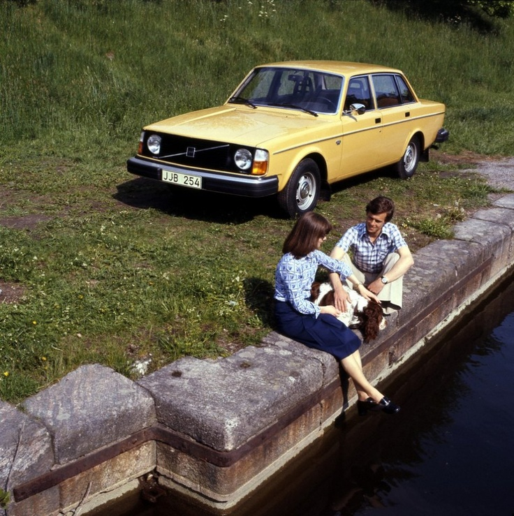"""Volvo 240 - Now named """"Buttercup"""""""