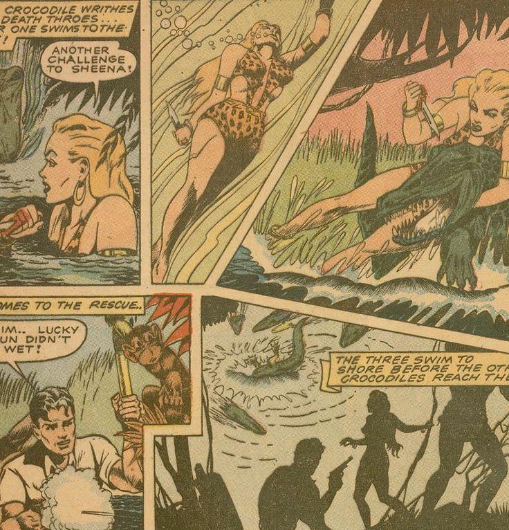 Jumbo Comics #46 (w/ Sheena), Dec.1942 http://digitalcomicmuseum.com/index.php?dlid=9274