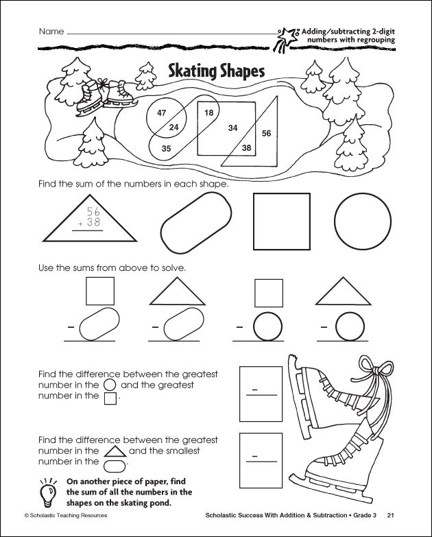 Printables Scholastic Math Worksheets 1000 images about math worksheets on pinterest fractions 3 free winter from scholastic for grades 1 to 3