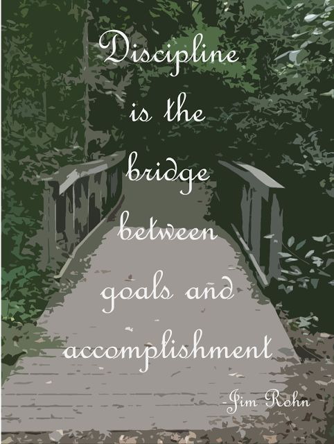 Discipline is the bridge between goals and accomplishment.  -Jim Rohn #discipline #quote