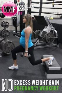 No Excess Weight Gain Pregnancy Workout. Great FULL BODY #Workout that is safe and effective for #PREGNANCY to prevent gaining tons of weight.