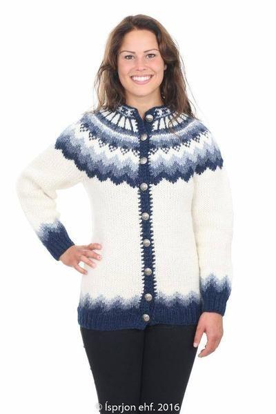 b35eba2ee Freyja - Icelandic Wool Cardigan - White