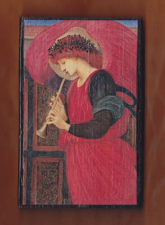 Angel Playing a Flageolet Edward Burne-Jones.The by teogonia