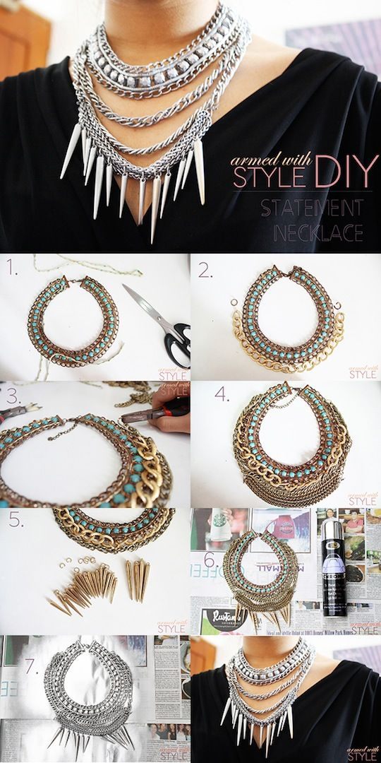 DIY Statement Necklace inspired by Dylanlex at armedwithstyle.net