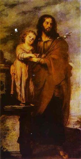 Joseph with Infant Chris - Bartolome Esteban Murillo