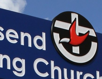 Wallsend Uniting Church sign detail / Danthonia Designs