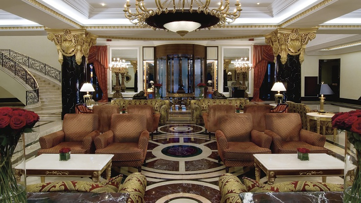 Ritz Carlton Moscow Spacious foyer