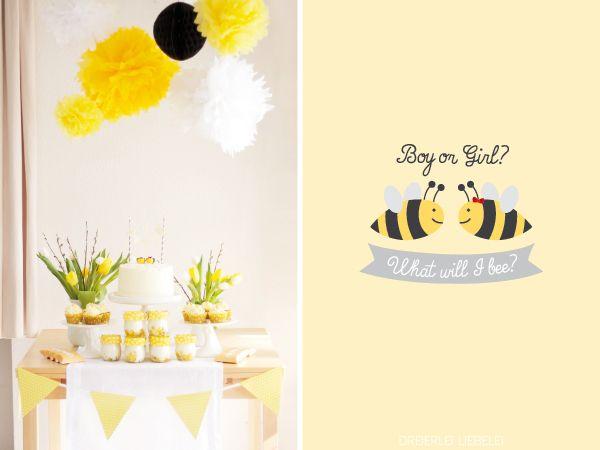 Boy or Girl? What will I bee? Baby-Party by http://dreierlei-liebelei.blogspot.de
