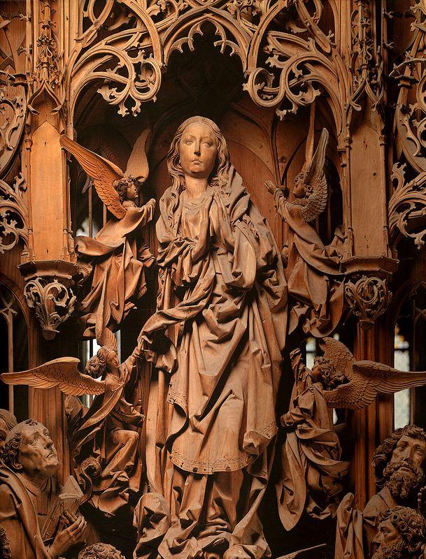 Tilman Riemenschneider, Assumption of the Virgin.altarpiece.detail.c.1505-1510.Herrgottskirche.Creglingen.(cropped)   Flickr - Photo Sharing!