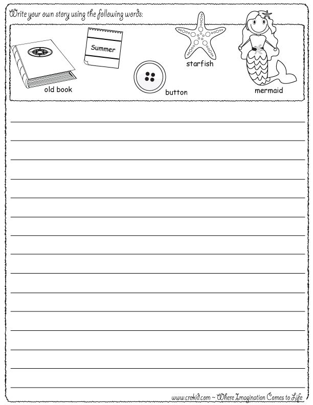 Print Wacky Sentences:  First and Second Grade Writing Practice Workbook: (Reproducible)  pd