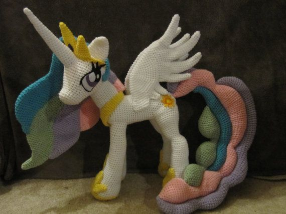 Princesa Celestia patrón My Little Pony por NerdyKnitterDesigns
