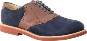 Men's Walkover Saddle Oxford - Navy Suede