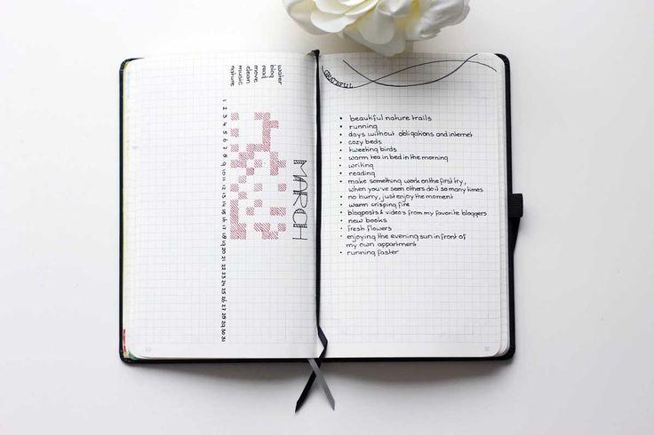 minimalistic bullet journal