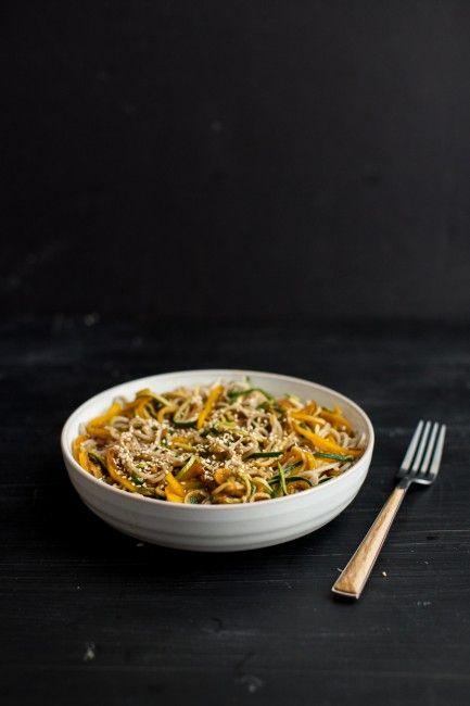 Garlic Soba & Zucchini Noodles | Naturally Ella