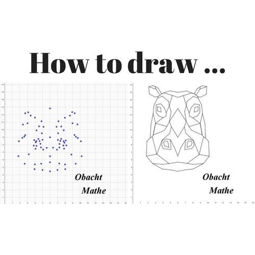 How to draw a hippo – geometric – Wie zeichnet man ein Nilpferd – geometrisch – …