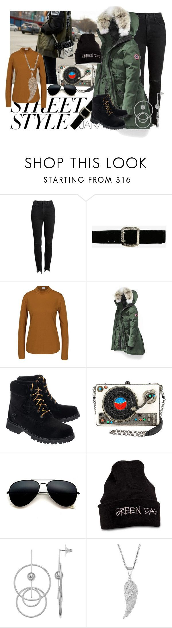 """NA POHODU"" by jana-macickova-weissova ❤ liked on Polyvore featuring Mother, Express, Jacqueline De Yong, Canada Goose, Off-White, Ball, contestentry and nyfwstreetstyle"