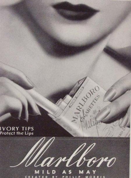 Marlboro ad, 1950s ---> Repinned by www.gers.nl