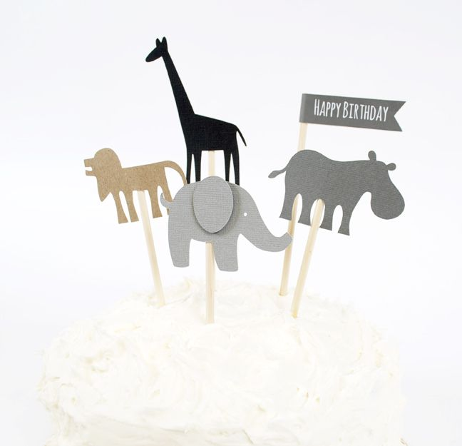 Silhouette Blog: DIY Birthday Cake Toppers