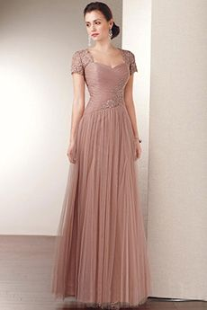 a lineprincess queen anne floor length tulle mother of the bride dress