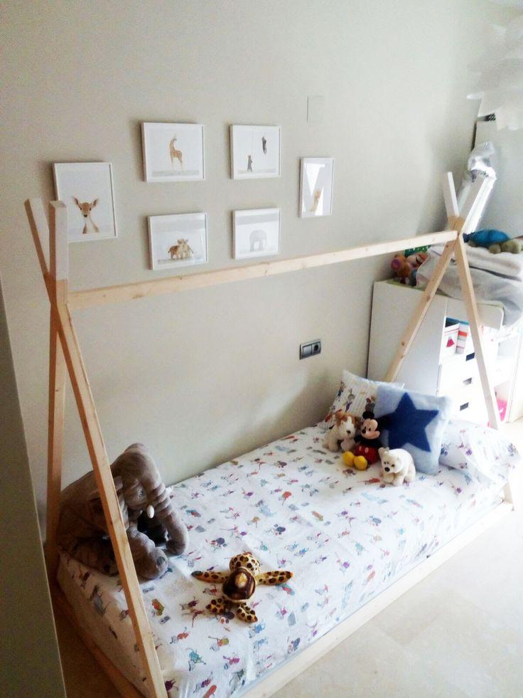 Cama Tipi #montessori #camas #camatipi #teepee #tipi #nordic #kids #kidsroom #nursery #nurserydecor
