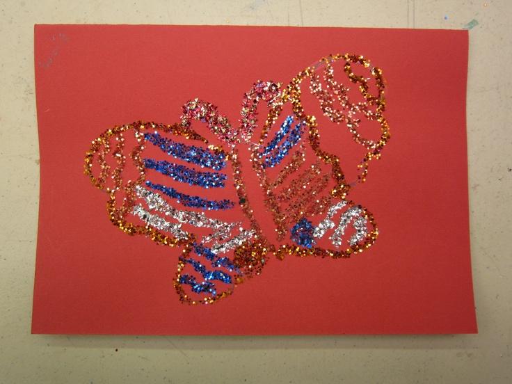 Therapeutic Art - glitter butterflies