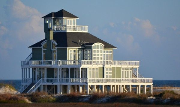 Gulf Coast Beach House Exteriors