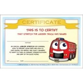 """Stretch's Prevent Home Fires"" Certificate"